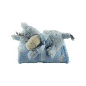 Unicornio de peluche con manta a juego para bebés