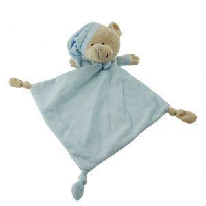 Doudou con forma de oso de peluche de color azul para bebés niño