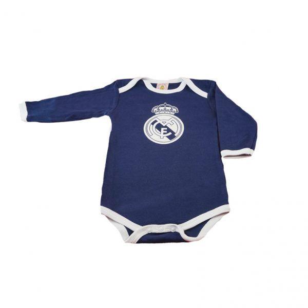 Body oficial del Real Madrid de algodón azul marino para bebés de 6 meses