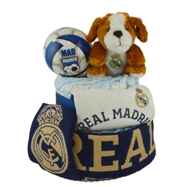 Tarta de pañales del Real Madrid