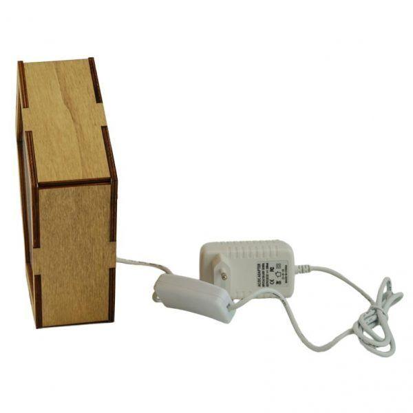 Lateral lámpara de madera personalizada