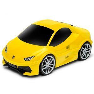 Maleta amarilla en forma de coche para niños