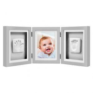 Marco para foto y huellas del pie y de la mano del bebé