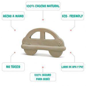 Mordedor para bebés con forma de coche 100% ecológico