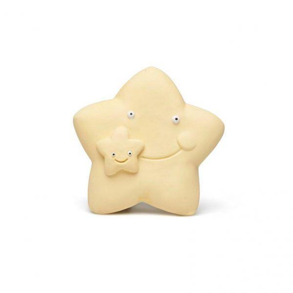 Mordedor de caucho con forma de estrella para bebés