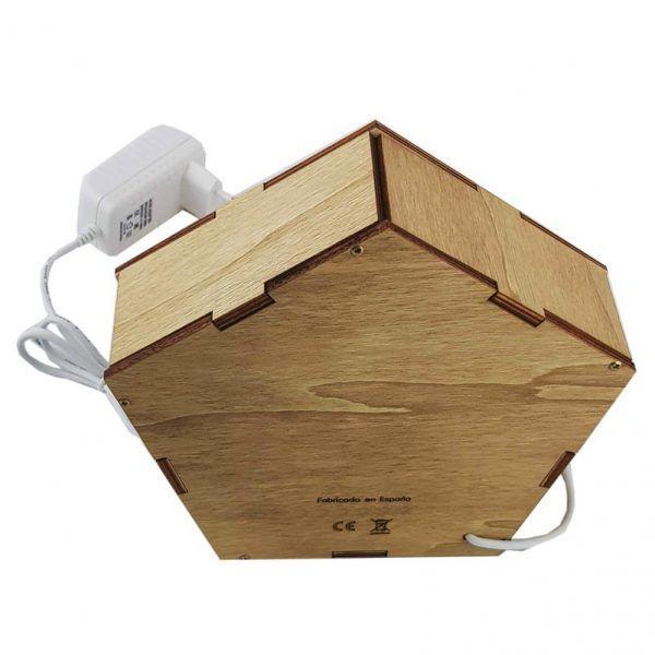 Parte trasera de la lámpara pentagonal