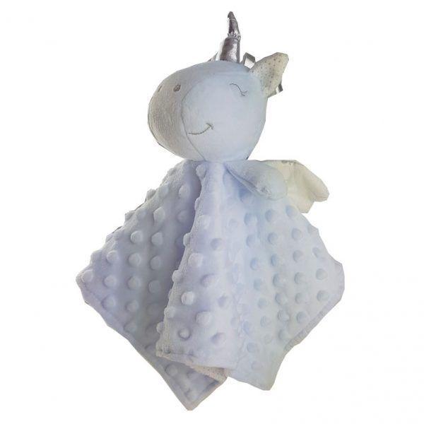 Lateral doudou unicornio azul