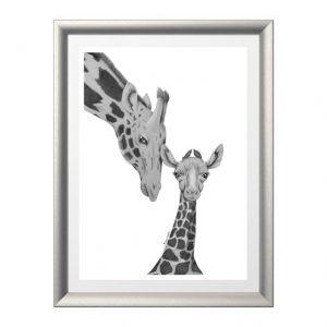 Cuadro jirafa madre e hija