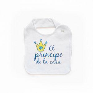 Babero para niño el príncipe de la casa