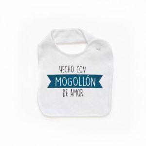 Babero algodón para niño hecho con mogollon de amor