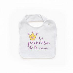 Babero para niña La princesa de la casa