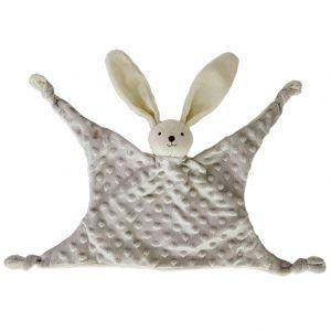 Doudou conejo gris bebe