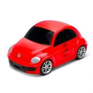 Maleta infantil con forma de coche rojo
