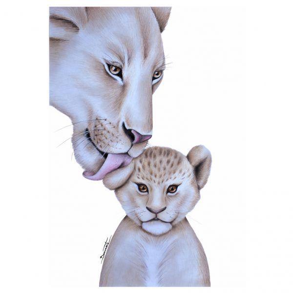 Lamina infantil leones