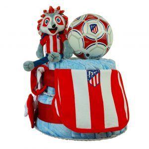 Tarta pañales Atlético de Madrid