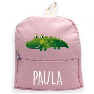 mochila rosa personalizada