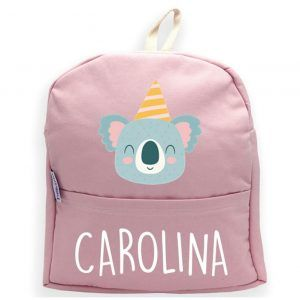 mochila personalizada rosa koala